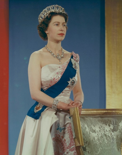 Colour portrait of Queen Elizabeth II