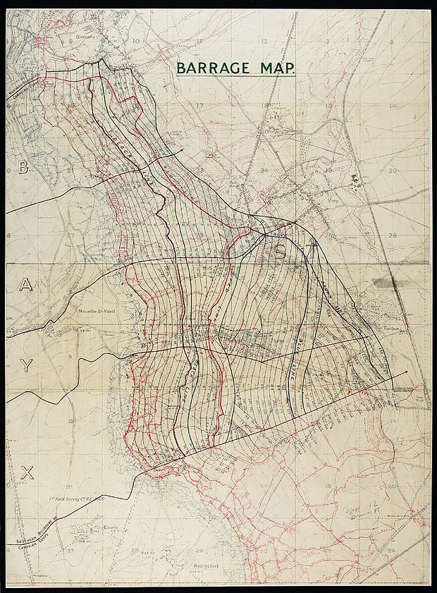 Map Of France Vimy.Battle Of Vimy Ridge April 9 To 12 1917 Library And Archives