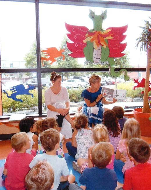 Children enjoy TD Summer Reading Club activities at Bibliothèque Sainte-Julie.
