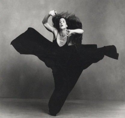 Black and white artistic dance photo of Margie Gillis