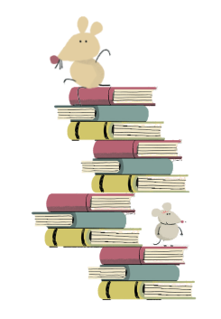 Image of a stack of books