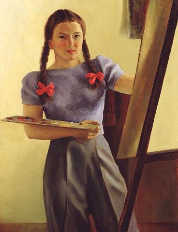Self-Portrait with Braids