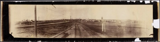 View along the rail line, Fergus, Ontario, ca. 1886–1887