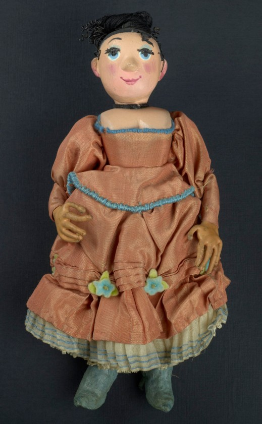 Wife Puppet in Orange Dress
