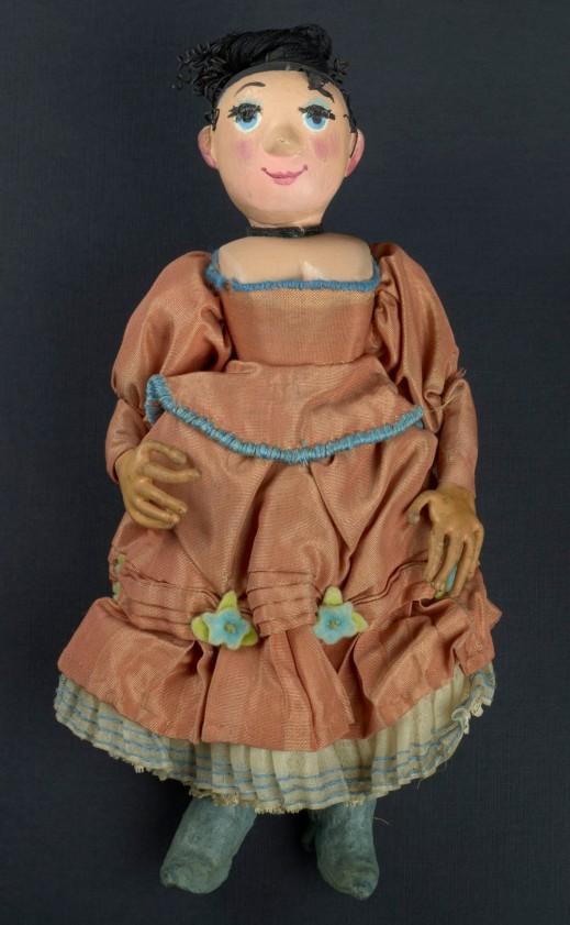 Wife Puppet in Orange Dress