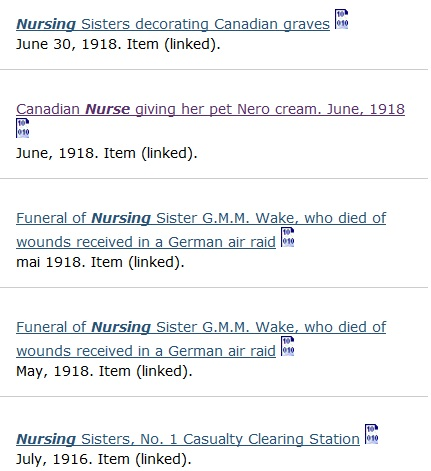 Search results for the nurs* search.