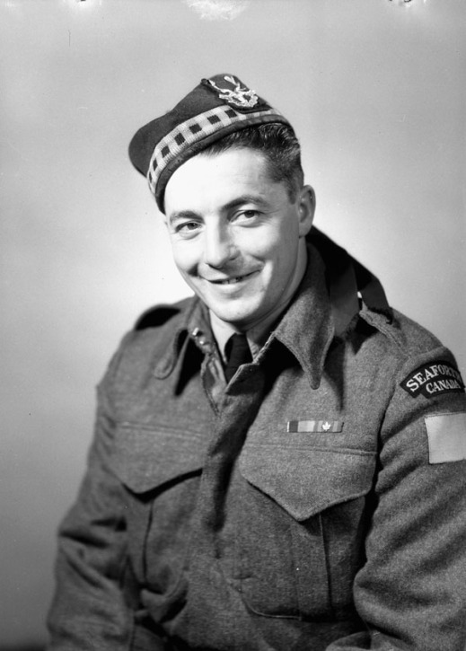 "Private Ernest Alvia ""Smokey"" Smith, V.C., of the Seaforth Highlanders of Canada"