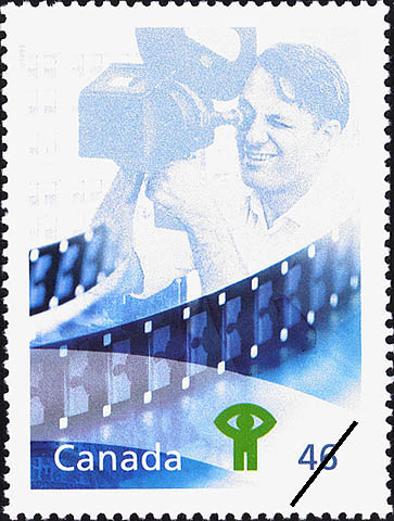 A stamp celebrating the National Film Board and its outstanding achievements