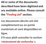 Graphical notice indicating that all or part of the records described have been digitized and are available online.