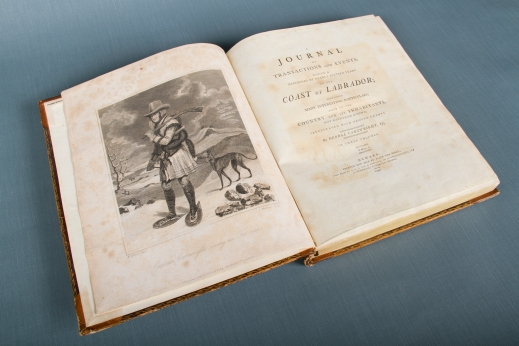 The same image as above, except in printed form, published in a first edition of the 1792 book.