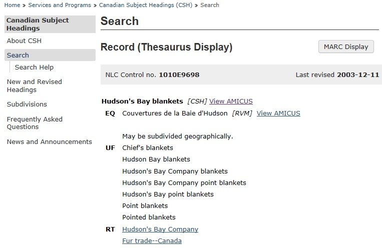 Canadian Subject Headings Library And Archives Canada Blog