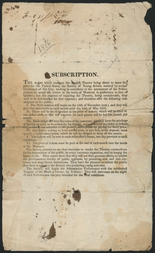 Text printed in English explaining the subscription's conditions and the company's commitment to its audience.