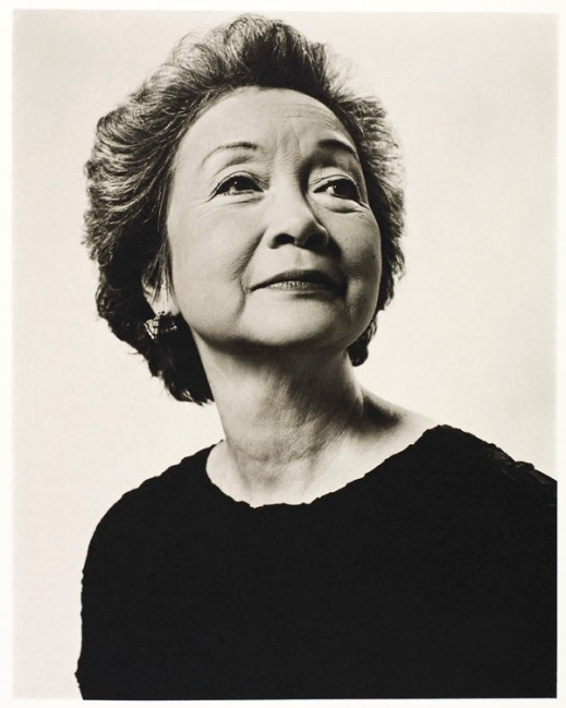 A black-and-white photograph of Adrienne Clarkson.