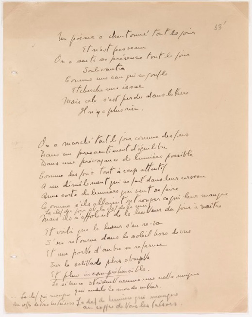 A colour image of a handwritten poem.