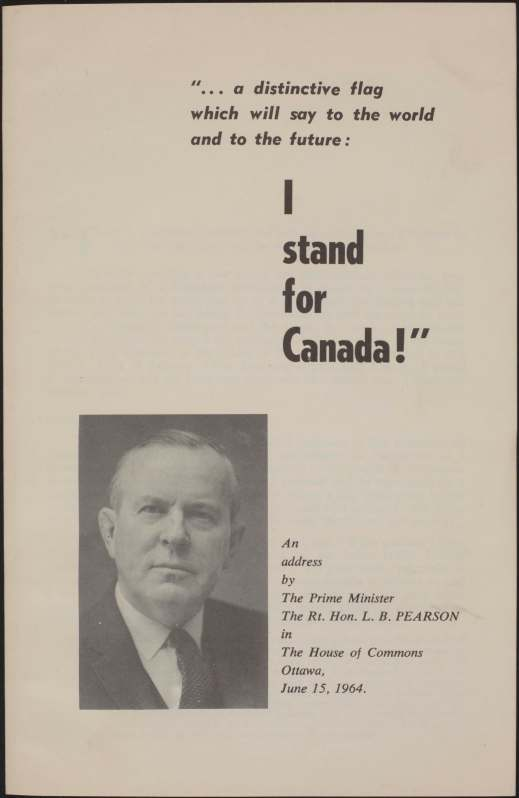 Cover page of a published speech, includes text and a portrait of a white man.