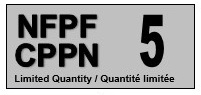 A grey tag with the acronyms NFPF and CPPN on the left and the number 5 on the right.