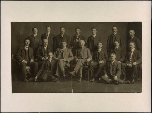 Black-and-white photograph showing the directors of the Montreal Rolling Mills Co. at a conference in 1904.