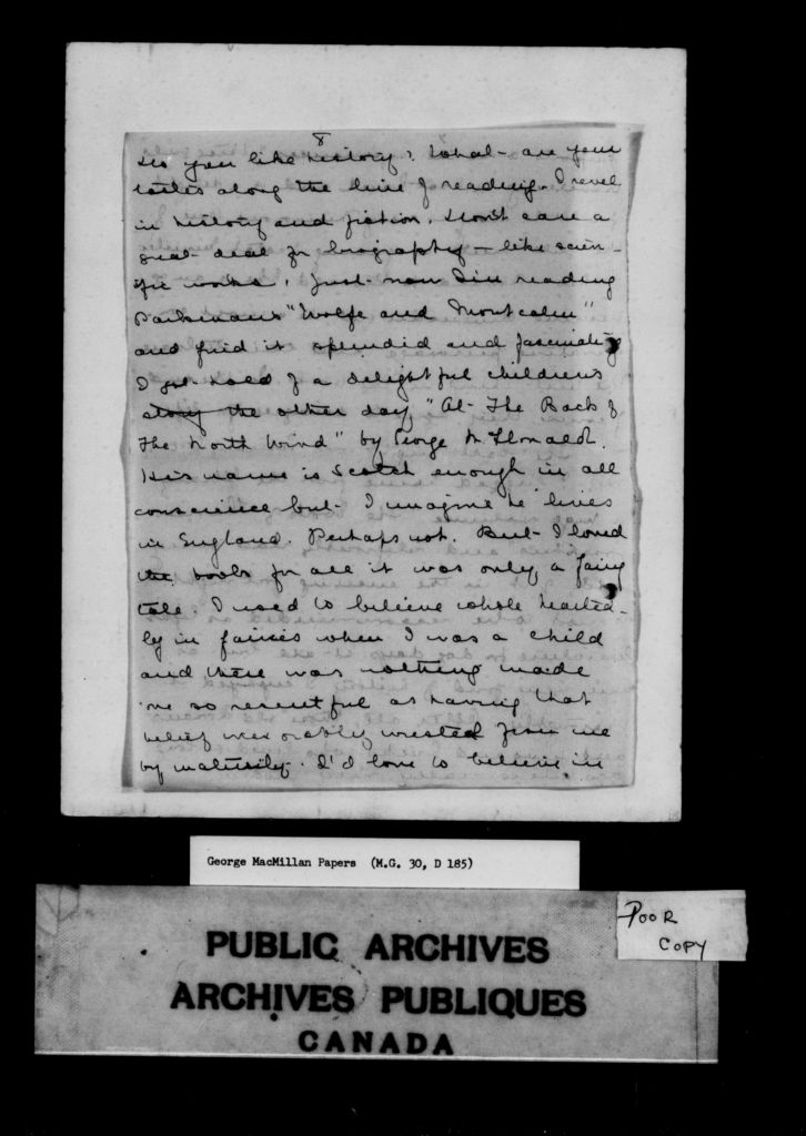 Exhibitions library and archives canada blog a black and white page of a letter from lucy maude montgomery to george sciox Gallery