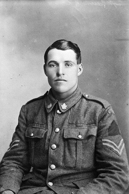 A black-and-white photograph of Sergeant Hugh Cairns.