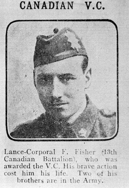 A black-and-white image of Lance-Corporal F. Fisher.