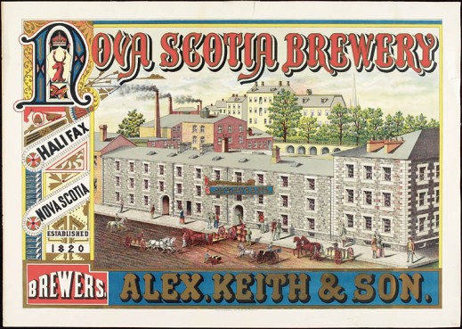 A colour print of an ad for Alex. Keith and Sons. Nova Scotia Brewery.