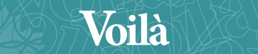 Banner with the word Volià in large font.