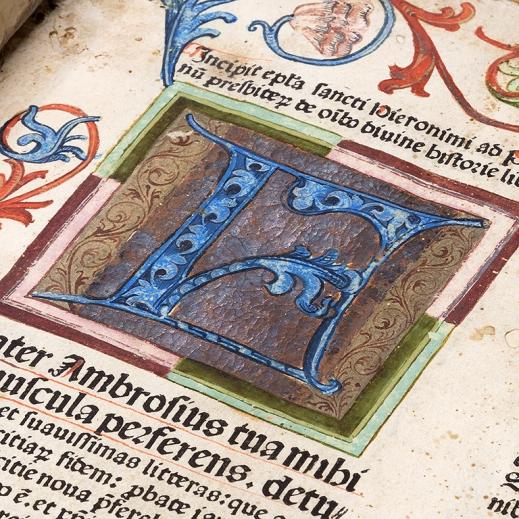 Vignette of a highly decorative manuscript key