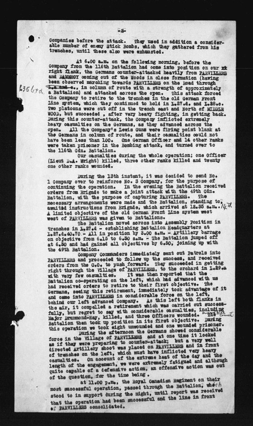 black-and-white copy of a textual document with torn hole-punches on the left.