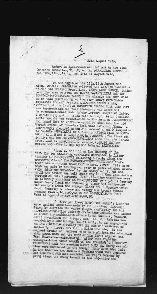 "A black-and-white copy of a textual record with four paragraphs and a handwritten ""2"" at the top of the page."