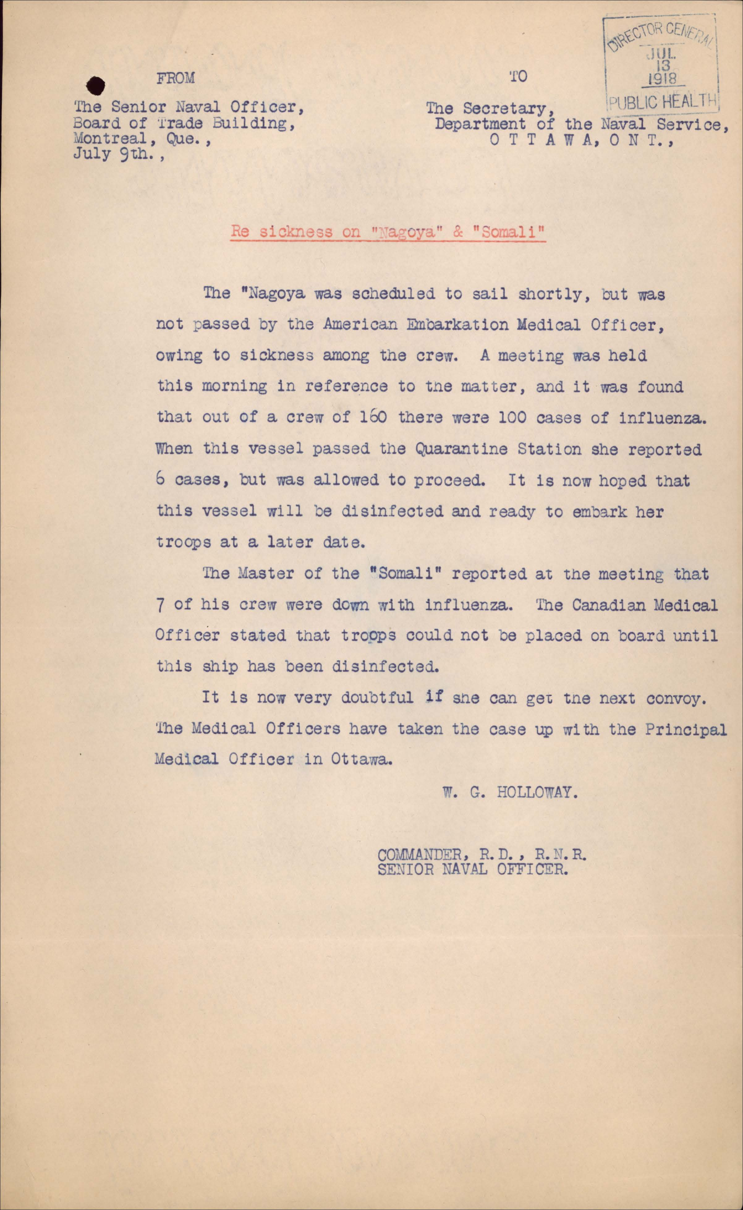 Alt-text: A typewritten page discussing the Spanish flu.
