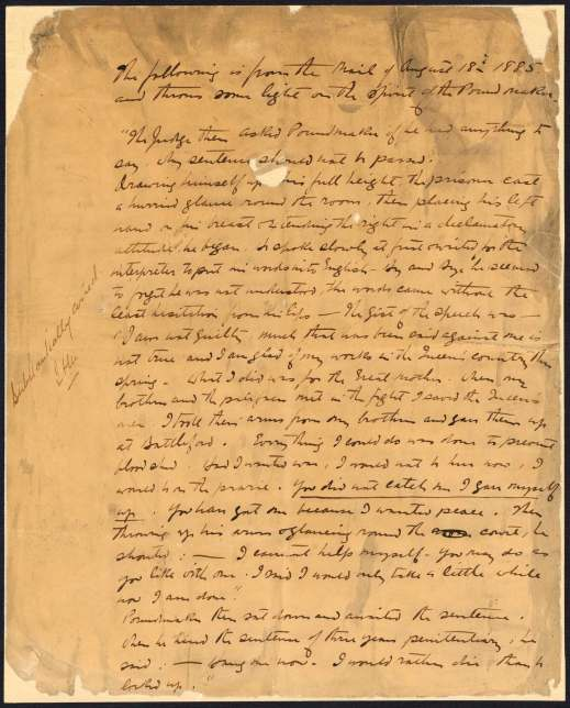 A handwritten page in English.