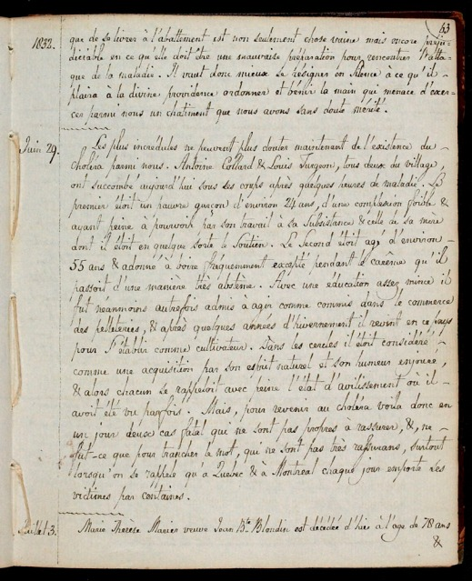 A handwritten page from a journal.
