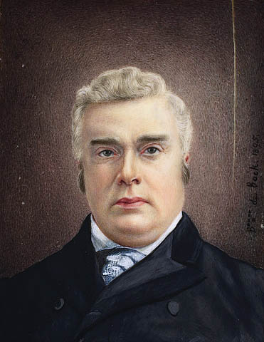 A head and shoulders portrait of former Canadian prime minister Sir John Sparrow Thompson