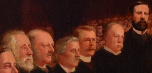 Detail shows politicians and prominent citizens of the day