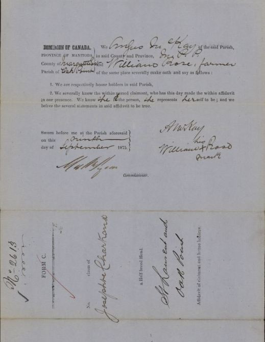 A handwritten and typed document
