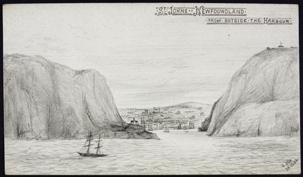Sketch of the entrance to St. John's Harbour.