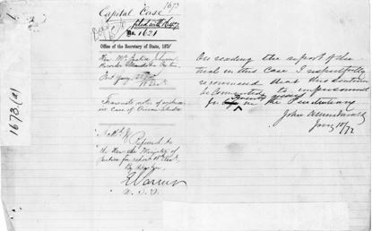 "A lined page with handwritten entries. The words ""capital case"" and the number 1673 are written at the top."