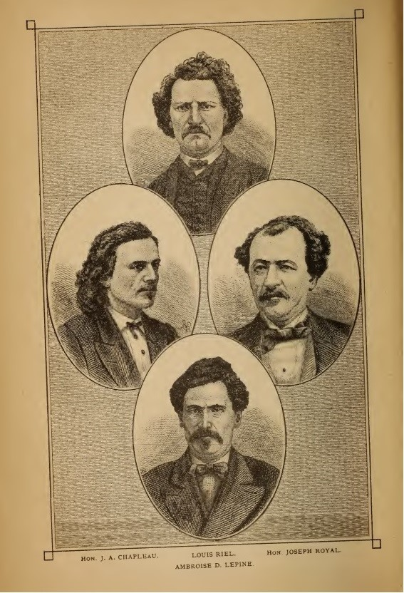 Hand-drawn portraits of four men on a page.