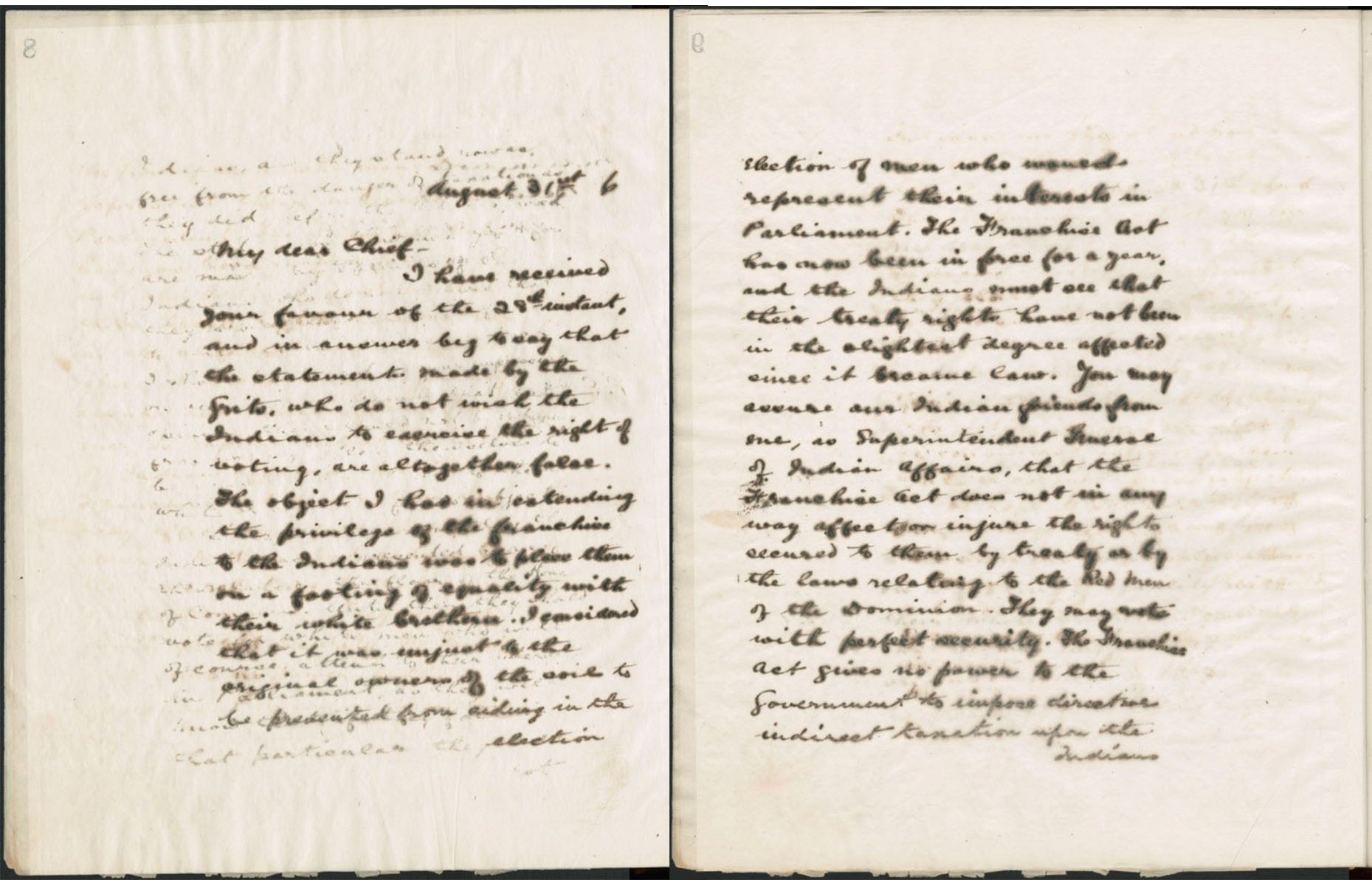 A sepia scan of a handwritten letter.