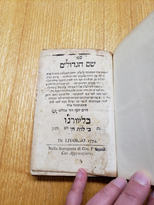 A colour photograph of a page of a book, written in Hebrew.
